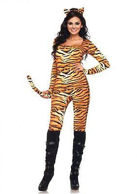 IAL Leg Avenue 83895 Sexy Damen Kostüm Tiger Wildkatze Wild Tigress Tierkostüm (Wild Tigress Kostüm)