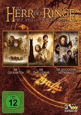Der Herr der Ringe - Komplettbox Die Spielfilm Trilogie Teil 1+2+3 - NEU 3 DVDs ()