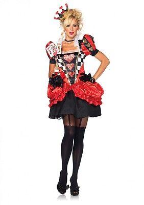 IAL 83840 Leg Avenue Damen Kostüm Evil Red Queen Herzkönigin Alice im Wunderland ()