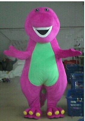 Barney Adult Mascot Costume fancy dress for advertising / Party Cosplay - Barney Costumes For Adults