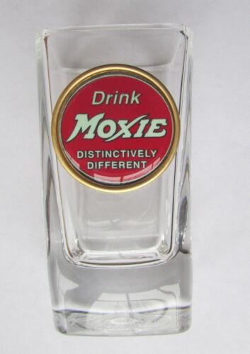 Moxie Soda Shot Glass , Drink Moxie Logo Shot Glasses , Drink Moxie Soda