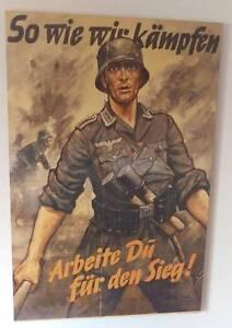 Mounted German World War II Propaganda Poster Holloways Beach Cairns City Preview
