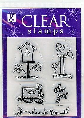 Studio G Bird House/Bird/Letter Mini Clear Stamp Set -VS4911 Series 7