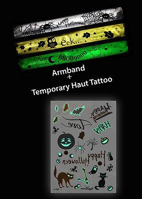 Temporary Tattoos Flash Tattoo Halloween + reflektierende Armbänder - Halloween Flash