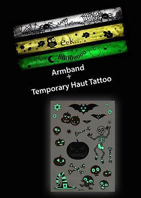 Halloween Temporary Tattoos Flash Tattoo und reflektierende Armbänder - Halloween Flash