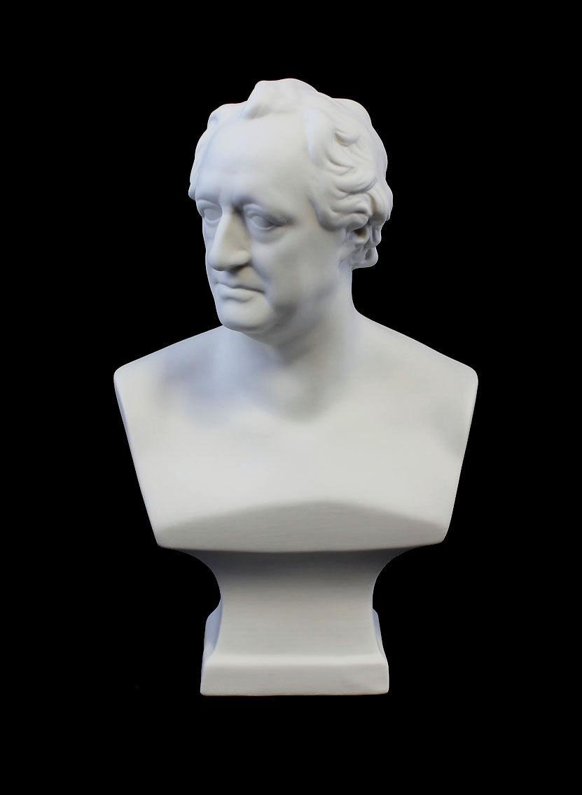 Large  Bust Goethe Bisquit Kämmer-Porcelain Height H24CM a3-44114