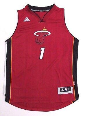 Miami Heat Jersey Chris Bosh #1 Adidas NBA Swingman + 2