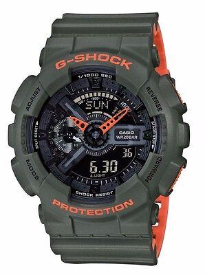 Crazy Deal New G-Shock GA110LN-3A Green-Orange Ana/Digi Mens Watch