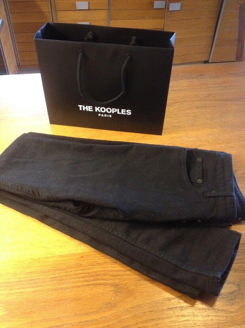 Jean the kooples neuf taille 30 couleur noir parfait etat coupe skinny