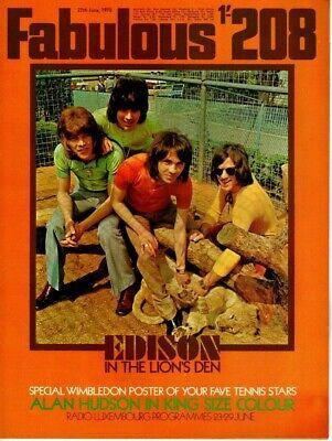 Fabulous 208 Magazine 27 June 1970 Edison Lighthouse  Paul McCartney Alan Hudson