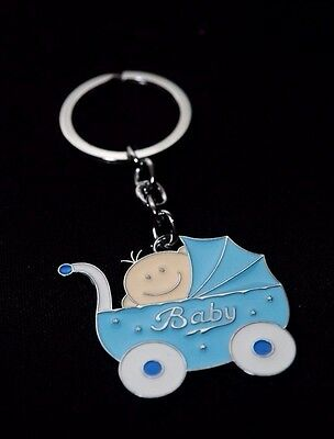 24-Baby Shower Boy Party Favors Keychains Favors Blue Party Recuerdos De Nino - Boy Favors