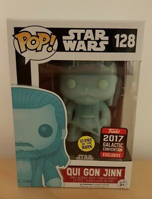Star Wars Funko Pop - Qui Gon Jinn GITD 2017 Galactic Convention Exclusive