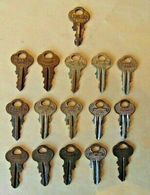 Lot of 16 Vintage Victor Vending Machine Keys Gum Ball etc