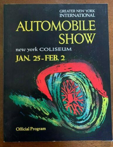 Rare 1986 International Automobile Show New York Coliseum Official Program