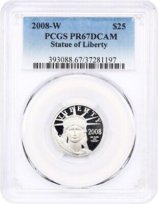 2008-W Platinum Eagle $25 PCGS PR 67 DCAM - Proof American Platinum Eagle