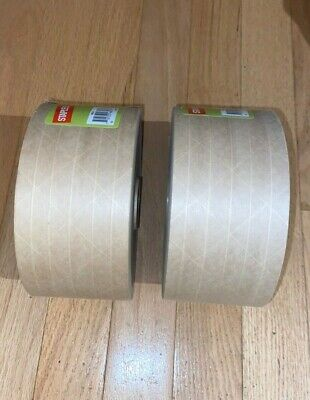 New Lot Of 2 Rolls Staples Paper Packaging Mailing Tape 2.8 X 125 Yards Roll