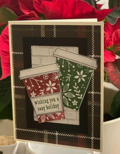"DIY Hero Arts COFFEE CUPS ""Cozy Holiday"" Christmas Handmade Card Kit"