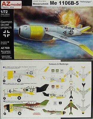 Neuheit Waffen (Me-1106 B-5,Höhenjäger, Luftwaffe 1946 , AZ-Model, 1:72, limitiert,  * NEUHEIT*)