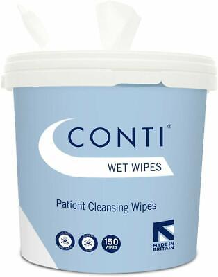 Conti Patient Cleansing Wet Wipes - 150 Tub By Synergy