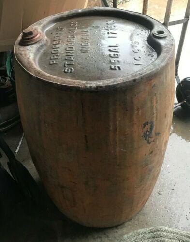 Standard Oil Company Indiana 55 Gallon Steel Barrel Drum Central Illinois