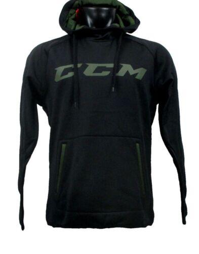 CCM Hockey Adult/Senior Grit Fleece Black/Army Green Hoody