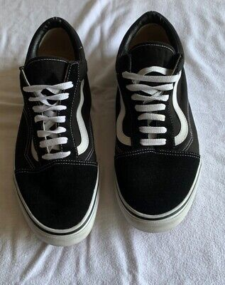 Mens Vans Black/White trainers size 12 used