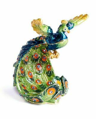 Baratija de pavo real Fabergé hecha a mano por keren Kopal con...