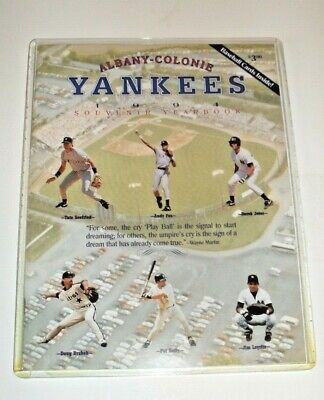 1994 Albany Colonie Yankees Yearbook w/ DEREK JETER rookie card attached (Colonie Albany)