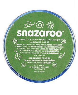 18ml Green Snazaroo High Quality Face Make Up Paint for Parties & Fancy Dress - Green Face Paint For Halloween