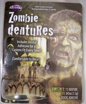 Zombie Old Man Hillbilly Pirate Nicotene Rotted Dentures Fake Teeth Accessory (Hillbilly Teeth Halloween)
