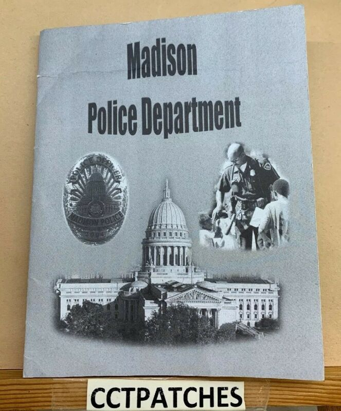 MADISON, WISCONSIN POLICE W/ CARD SHOULDER PATCH WI
