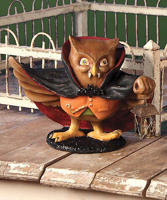 Drachootula Owl Vampire Figurine Bethany Lowe New Halloween Gothic Decor