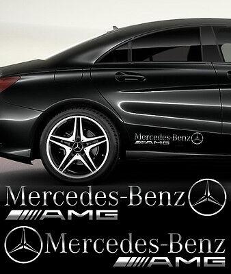 Mercedes-Benz AMG Aufkleber Seitenaufkleber 2 Stk SPIEGEL CHROMEFFEKT Folie