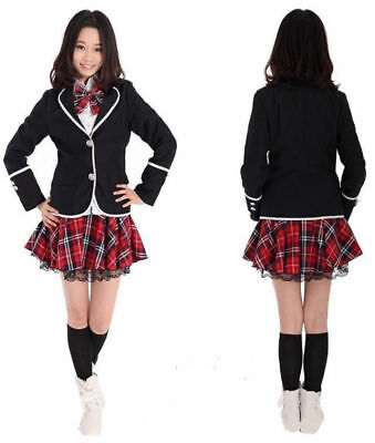 Japanese School Girl Sailor Uniform Women Cosplay Costume Halloween Set White S - Halloween Costume Japanese School Uniform