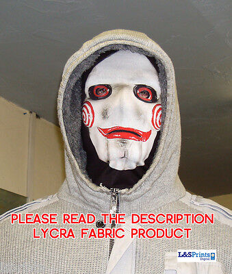 Halloween Face Mask - Scary Horror Saw Face Fancy Dress - Lycra Fabric Snood](Halloween Saw Face)