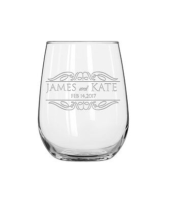 His & Her Personalized Wine Glasses,Stemless Wine Glasses,SHIPS FAST - Stemless Wine Glasses Personalized