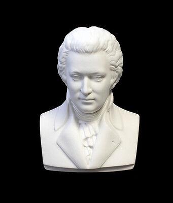 Bisquit Porzellan Büste Wolfgang Amadeus Mozart Kämmer H12cm 44073