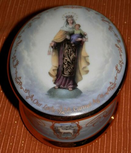 """Visions of Our Lady by Hector Garrido """"Our Lady of Mt. Carmel"""" Music box 1995"""