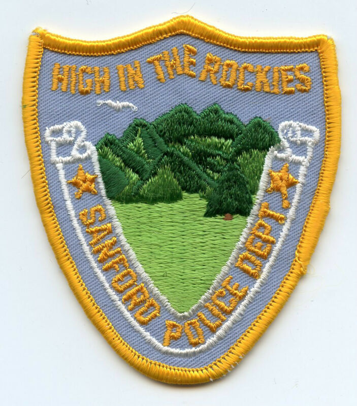 old vintage SANFORD COLORADO CO High In The Rockies POLICE PATCH