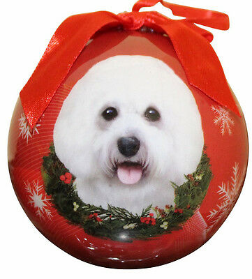 BICHON FRISE CHRISTMAS BALL ORNAMENT DOG HOLIDAY XMAS PET LOVERS GIFT ()