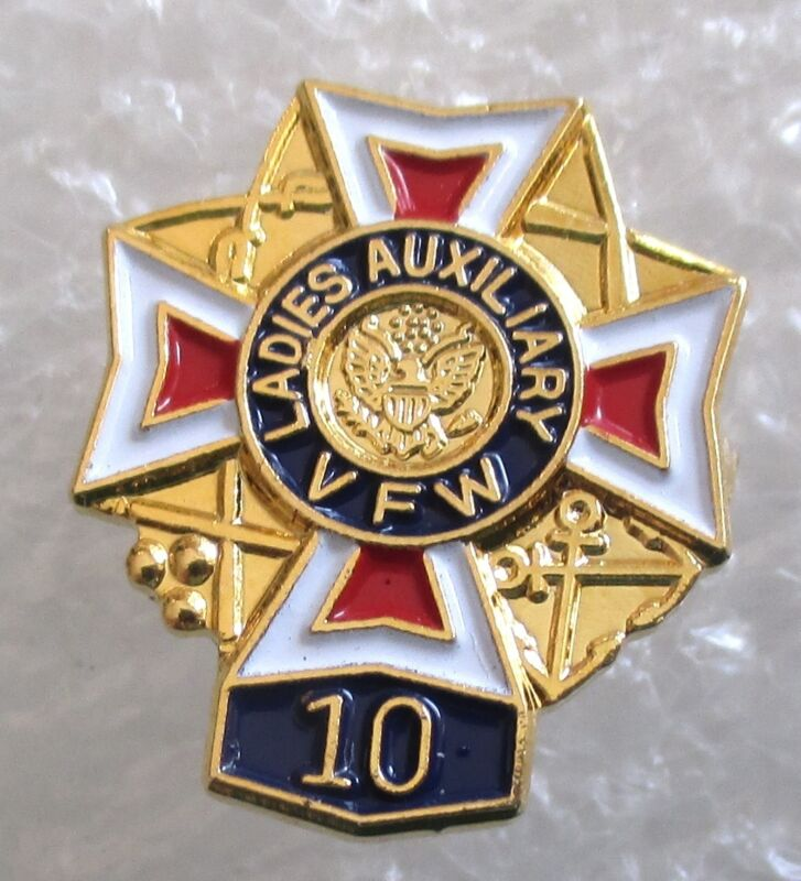 VFW Ladies Auxiliary 10 Year Member Award Pin-Veterans of Foreign Wars