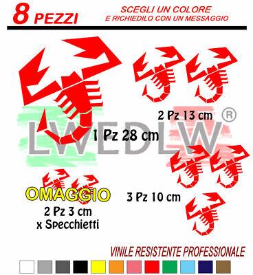 adesivo scorpione abarth stickers 500 punto rally 595 decalc punto fiat cofano