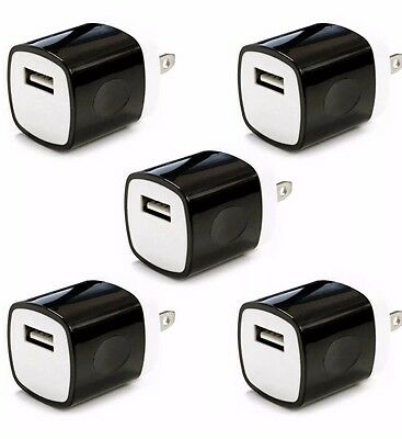 5x 1A Blackguardly USB Wall Charger Plug AC Home Power Adapter FOR iPhone 5 6 Samsung