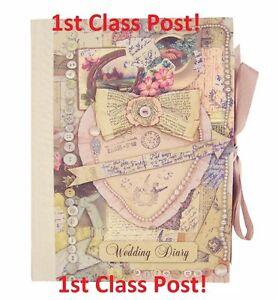 Vintage Wedding Planner Book Diary Journal Organiser Bridesmaid Engagement Gift
