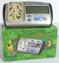 Birdsong Identiflyer Digital Desk Alarm Clock CK01 Bird Song Identifier Card EUC