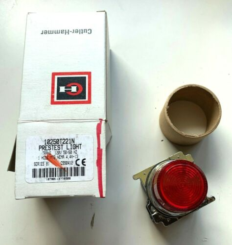*NEW* Cutler Hammer Eaton 10250T34R RED Indicator Light NEMA 4 4X 13 Red Lens