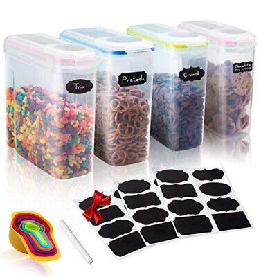 Large Kitchen Cereal, Dry Food Storage containers ,For Flour, Sugar, Dog, Pet (Containers For Storage)