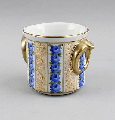 Porcelain Flower Pot Planter Floral Decoration Gold Uninstall Kor 9987084