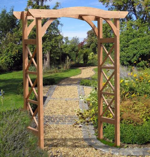 Garden Arbor Cedar Wood Pergola Wedding Arch Trellis 7 Feet Tall Brown Entryway