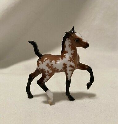Breyer Stablemates CM Custom Etched Glossy Trotting Foal